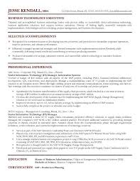 It Manager Resume Sample Business Technology Executive Best It In It