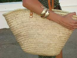 basket with leather strap