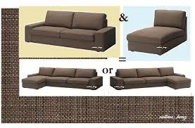 ikea kivik 3 seat sofa chaise lounge