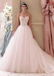 strapless blush pink embroidered a line wedding dress 115250 luca