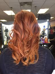 Auburn And Copper Balayage Vlasy Zrzavé Vlasy účesy A Vlasy