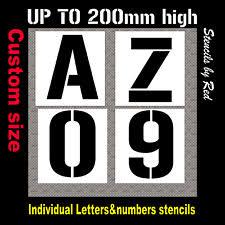 Stencil Letters Letter Stencils Ebay