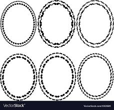Oval frame design Simple Frames Oval Altenew Frames Oval Royalty Free Vector Image Vectorstock