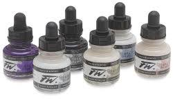 Daler-Rowney FW Acrylic <b>Water</b>-<b>Resistant</b> Artists Ink - 1 oz ...