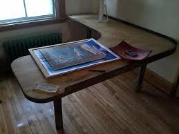 wood l shaped desk blueprints