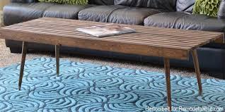 wood slat coffee table doubtful remodelaholic diy modern building plan decorating ideas 20