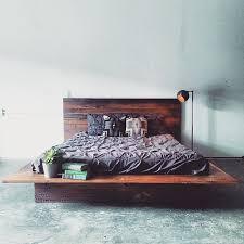 reclaimed wood bed frame. Alluring Platform Bed Wood With Reclaimed Barn Frame Modern Lodge O