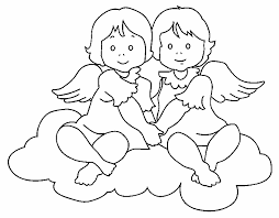 Small Picture Baby Angels For ColoringAngelsPrintable Coloring Pages Free Download