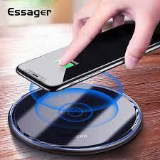 Essager 10W Qi hızlı kablosuz hızlı şarj cihazı hızlı indüksiyon kablosuz  şarj pedi iphone11 pro max Samsung not 10 xiaomi mi 9|Kablosuz Şarj  Cihazları