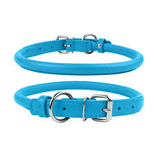 rolled leather dog collar collar glamour various colours collar products
