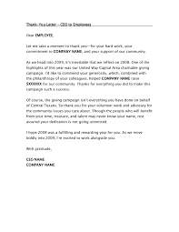 Thank You Letter To Employees For Hard Work Articleezinedirectory
