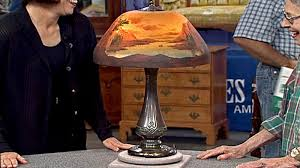 moe bridges table lamp ca 1900