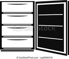 アイコン 単純である スタイル 開いた 冷蔵庫