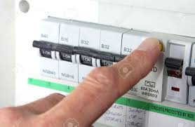 testing an rcd (residual current device) on a uk domestic electrical uk fuse box wiring stock photo testing an rcd (residual current device) on a uk domestic electrical consumer unit or fuse box