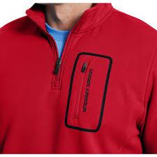 under armour 1 4 zip fleece. under armour mens extreme coldgear\u0026reg; lite fleece 1/4 zip - red under armour 1 4