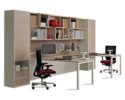 equipped library for office with