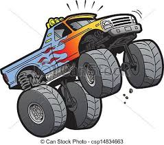 monster truck tires clipart. Fine Tires Caricaturas Carros Trucks  Clip Art Vector Of Monster Truck Jumping   Cartoon Illustration A  In Tires Clipart R