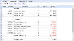 Chart Of Accounts For The Budget Banana Accounting Software