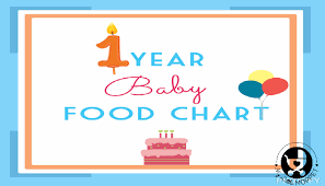 Food Chart For One Year Old Baby