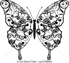 Butterfly Patterns Simple Exotic Butterfly Abstract Patterns Eps48 Vector Graphics
