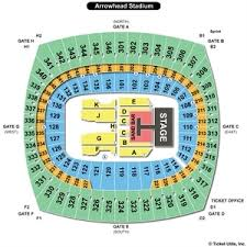 Kenny Chesney Seating Chart Cowboy Stadium 76 Exhaustive Seating Chart For Arrowhead Stadium