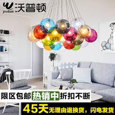 get ations creative arts chandelier living room restaurant bar led color bubble chandelier ball ball ball ball double