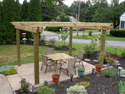 build a better backyard easy diy outdoor projects midcityeast surprising wood table near cane work chair on floor for backyard garden ideas