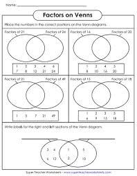 Greatest Common Factor Chart Printable Factoring Worksheets