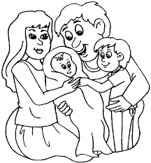 Small Picture Coloring Pages Of Families 11268