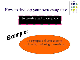 title formats nec facet center ppt video online  how to develop your own essay title