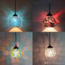 sea glass pendant lights. Home Pendant Lamp Mediterranean Sea Glass Light Nightclubs Lighting Cafe Bar Disco Party Mosaic Suspension Dining Lights