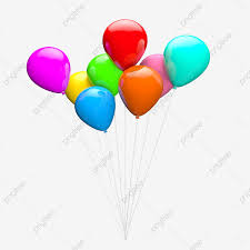 C4d Colored Floating Balloon C4d Color Floating Png
