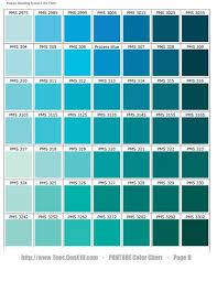 Pantone Color Blue Chart