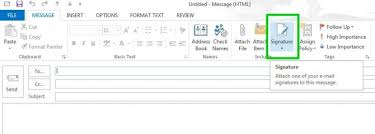 how to create online signature how to create an email signature in microsoft outlook 2013 tips
