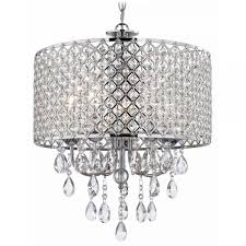 drum pendant chandelier with crystals