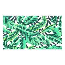green palm leaf rug acrylic area rugs tropical glam banana print next giant neon jungle leaves