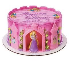 Decopac Disney Princess Pink Rapunzel Castle Decoset Cake Topper