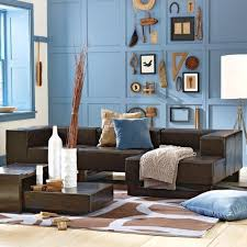 blue walls brown furniture. Love The Blue Walls With Brown Couch - Especially Wall Decor Collection Furniture Pinterest