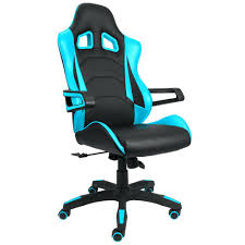 blue desk chairs gaming chair racing style bucket seat premium leather swivel executive office lumbar navy wood