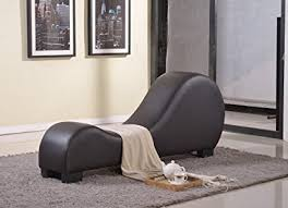 divine collection furniture. Container Furniture Direct Divine Collection Modern Upholstered Faux Leather Curved Yoga Chaise Lounge, Dark Brown E
