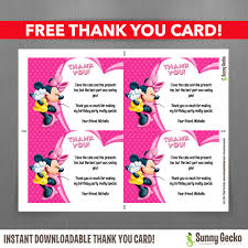 mouse 7x5 in birthday party invitation editable thank birthday party invitation editable thank you card