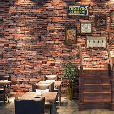 3d stone brick wallpaper removable pvc