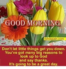 Rishikajain Good Morning Quotes Best Of GOOD MORNING Rishikajaincom Don't Let Little Things Get You Down You