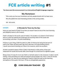 essay taken from an exam this topic is so frequent in first certificate exam fce article writing