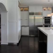 dark hardwood flooring kitchen. Beautiful Flooring Transitional White Kitchen With Dark Hardwood Floors Intended Flooring H