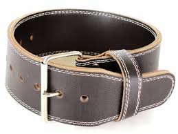 360Â view of leather belt for weightlifting