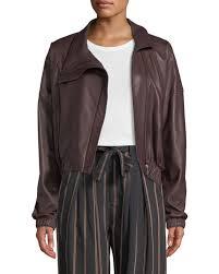 vinceasymmetric leather moto jacket