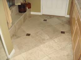 Cream Floor Tiles For Kitchen Tile Floor Cozy Bathtub With Modern Toilet And Exciting Walker