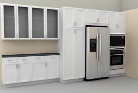 Fascinating Homcom Colonial Storage Cabinet Kitchen Pantry White