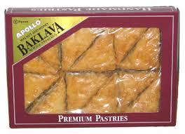 baklava apollo brand 12 pieces 1 box
